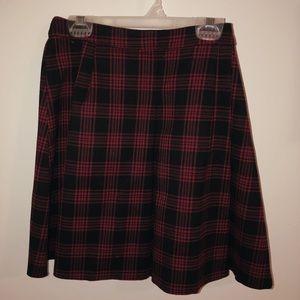 H&M Plaid Mini Skirt